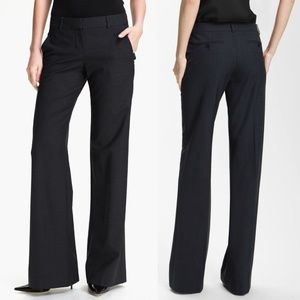 Theory 12 Black Emery 2 Tailor Wool Blend Trousers